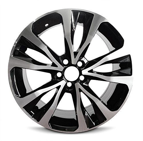 Wheel 2017-2019 Toyota Corolla 17 Inch 5 Lug Black Machine Face