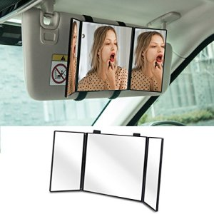 Truck SUV Cosmetic Mirror Clip On Sun Visor