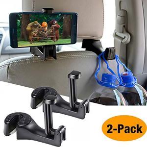 Car Hooks Car Seat Back Hooks with Phone Holder