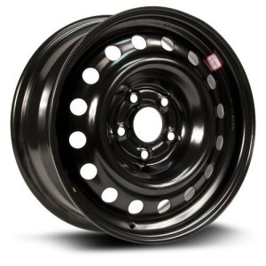Aftermarket Wheel, 16X6.5 black finish RTX, Steel Rim