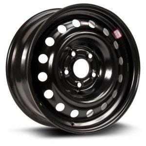Aftermarket Wheel, 16X6.5 black finish RTX, Steel Rim