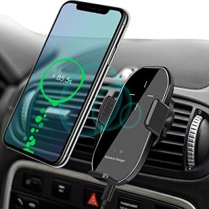 Wireless Car Charger Vent Mount, Automatic Clamping