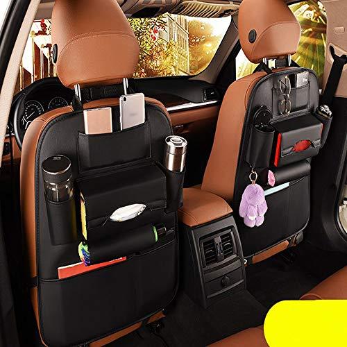 2 Pack PU Leather Premium Car SeatBack Organizer Travel Accessories