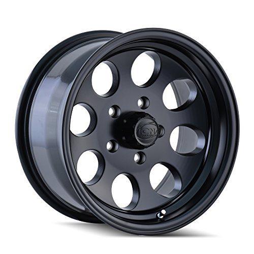 Matte Black Wheel with Machined Lip 16x8