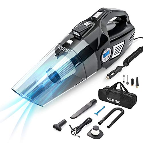 4-in-1 Car Vacuum Cleaner Portable Air Compressor with Digital Tire Pressure Gauge