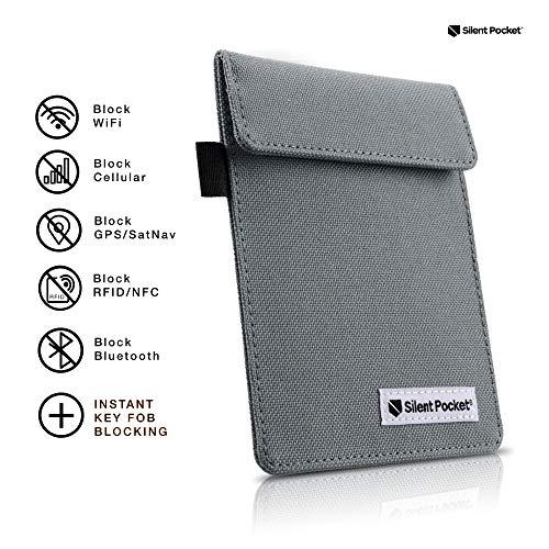 Silent Pocket Signal Blocking Faraday Key Fob Case Anti Theft Device