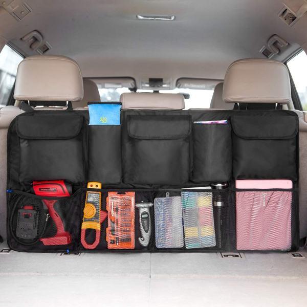 Car Trunk Backseat Organizer (42 x 22 inch) Organizer with Free Car Cleaning Cloth
