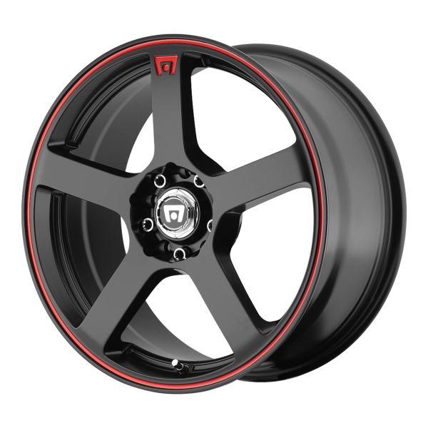 "Black/Red Wheel Rim 15"" Inch MR116 15x6.5 4x100/4x108"