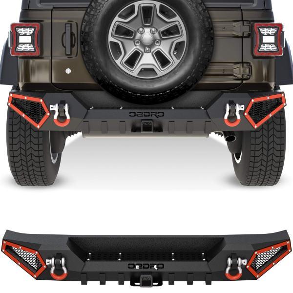 OEDRO Rear Bumper Compatible with 2018-2021 Jeep
