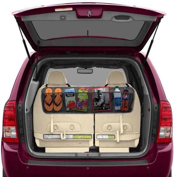 Lebogner Back Seat Trunk Organizer, 5 Pocket Space Saving