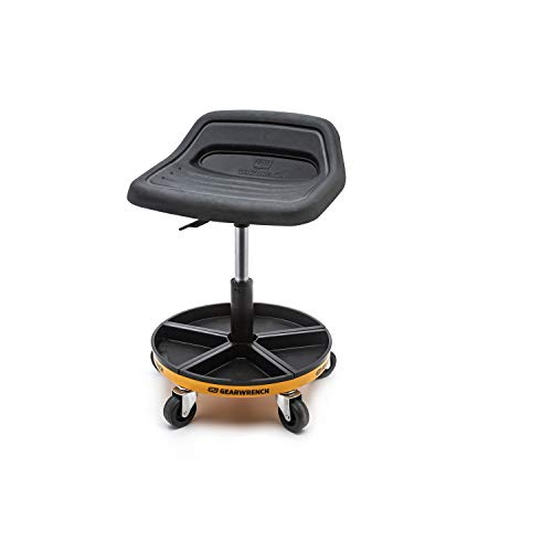 "Adjustable Height Swivel Mechanics Seat 18"" to 22"""