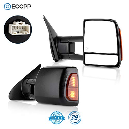 ECCPP Passenger Left Driver Right Tow Mirrors Pair Set