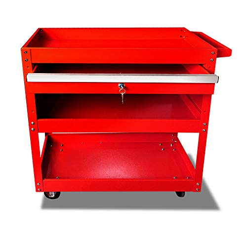 Rolling Tool Cart Service Trolley, 330 LBS Weight Capacity
