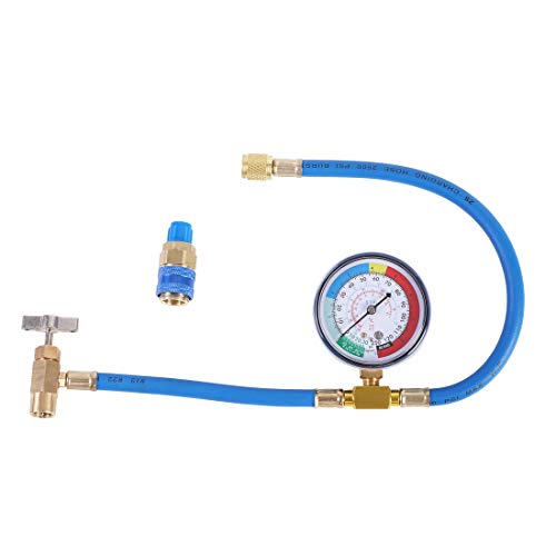 JIFETOR AC Charge Hose with Gauge