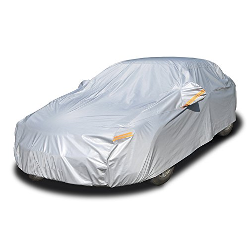 Kayme 6 Layers Car Cover Waterproof All Weather for Automobiles
