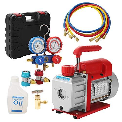 """Repair Recharge 1/4"""" SAE Tool Kit with Electric Vacuum Pump"""