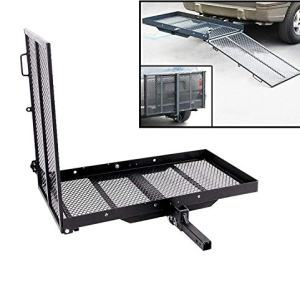 ECOTRIC Trailer Hitch Folding Carrier for Wheelchair Scooter