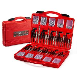 AKM 261Pc Thread Repair Kit, HSS Drill Helicoil Repair Kit