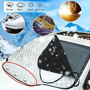 PARAWEYSE Windshield Snow Cover with 4 Layers Protection