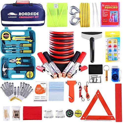 Roadside Assistance Emergency Kit Jumper Cables Set