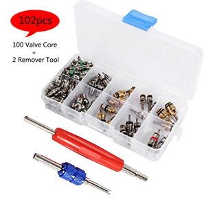 Car Air Conditioning Valve Core Kit, Auto AC Repair Tool Box