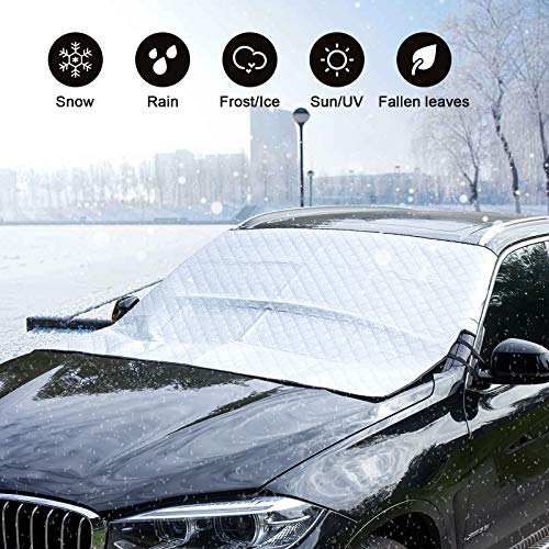 ChuLian Car Windshield Snow Cover with 4 Layers Protector