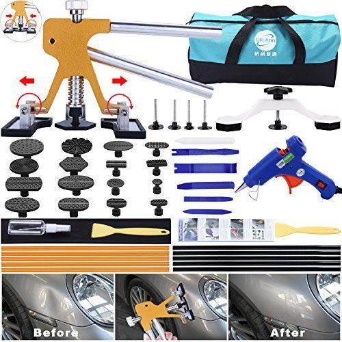 GLISTON 45pcs Paintless Dent Repair Tool Dent Puller Kit