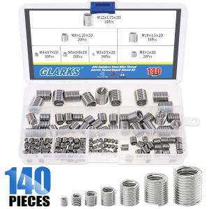 Glarks 140Pcs Stainless Steel Metric