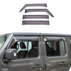 RT-TCZ Side Window Deflectors Wind Rain Shade Visor Guard