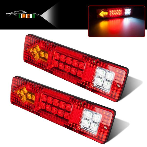 LIMICAR 19 LED Red Amber White Integrated Trailer Tail