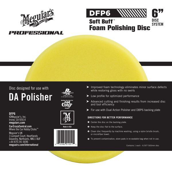 """Dual Action Polishing Pad Meguiar's 6"""" DA Foam Polishing Disc"""