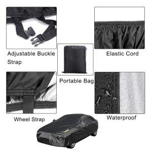 Universal Full Car Cover Ice Waterproof Dust Sun