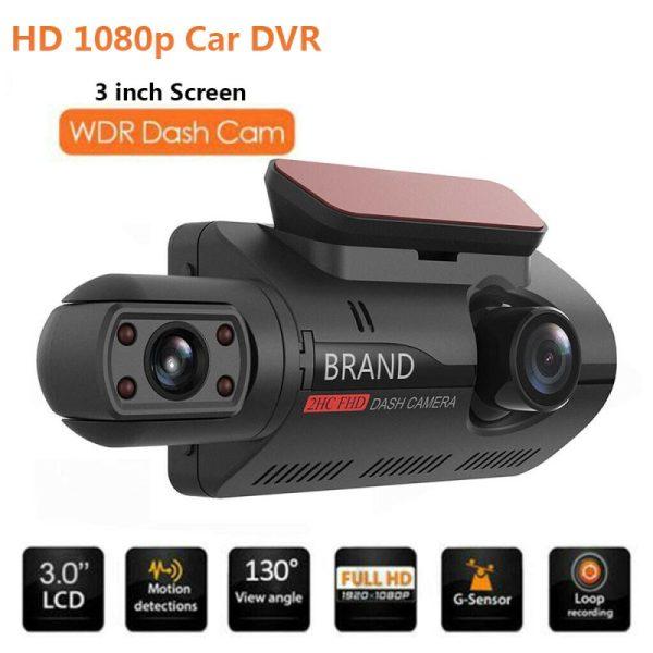 Dual Lens Car DVR Dash Cam Video Recorder