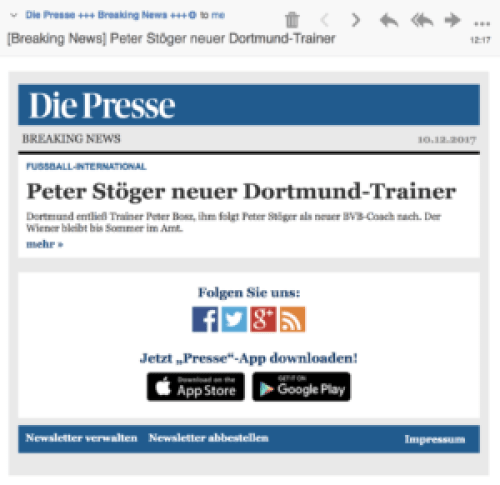 Breaking News: Peter Stöger neuer Dortmund-Trainer