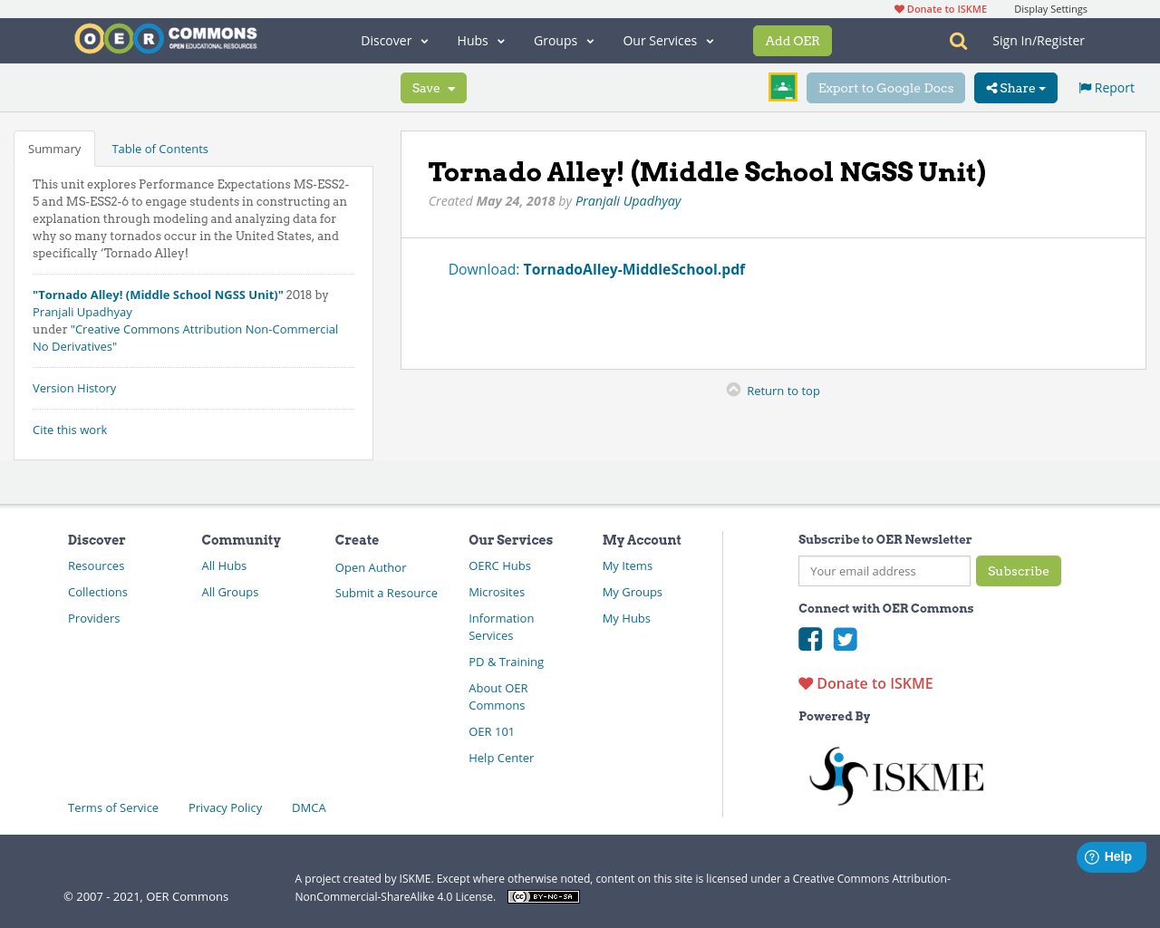 Tornado Alley Middle School Ngss Unit