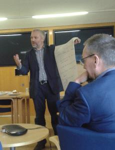 Martin Weller at European OER seminar (Beck Pitt, CC BY)