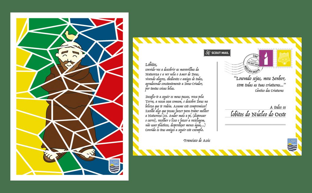 Postal Patrono São Francisco