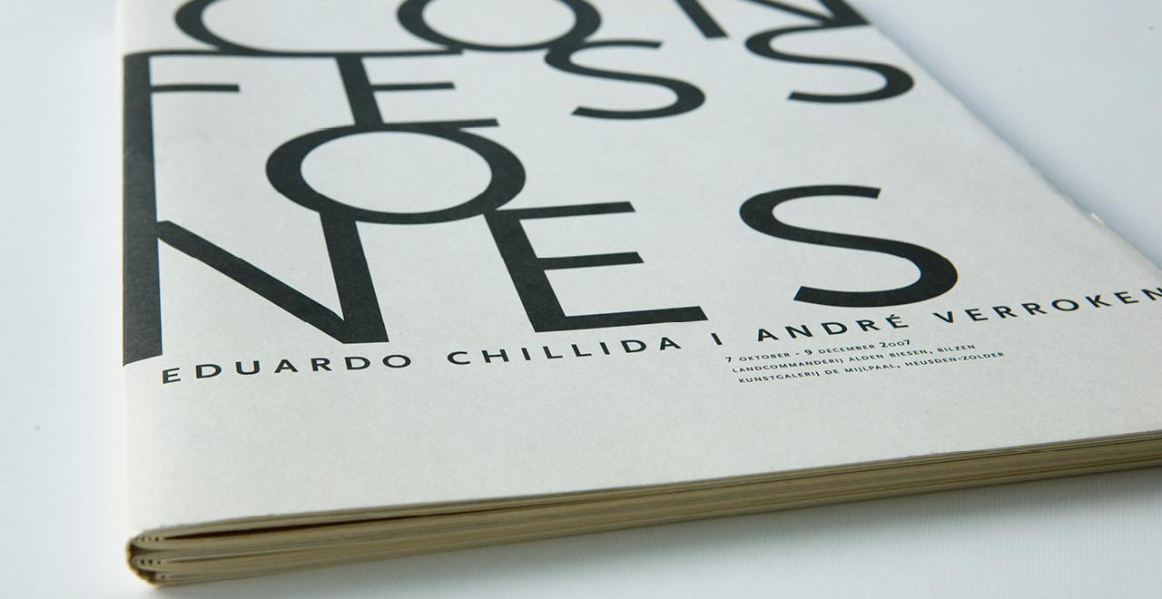 Art catalogue for André Verroken and Edouardo Chillida