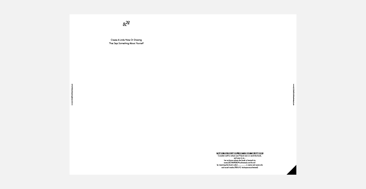 Design for a Friends book project for 'Le Chaperon Unlimited Online gallery'