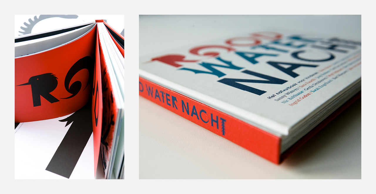 Book design 'Rood Water Nacht'