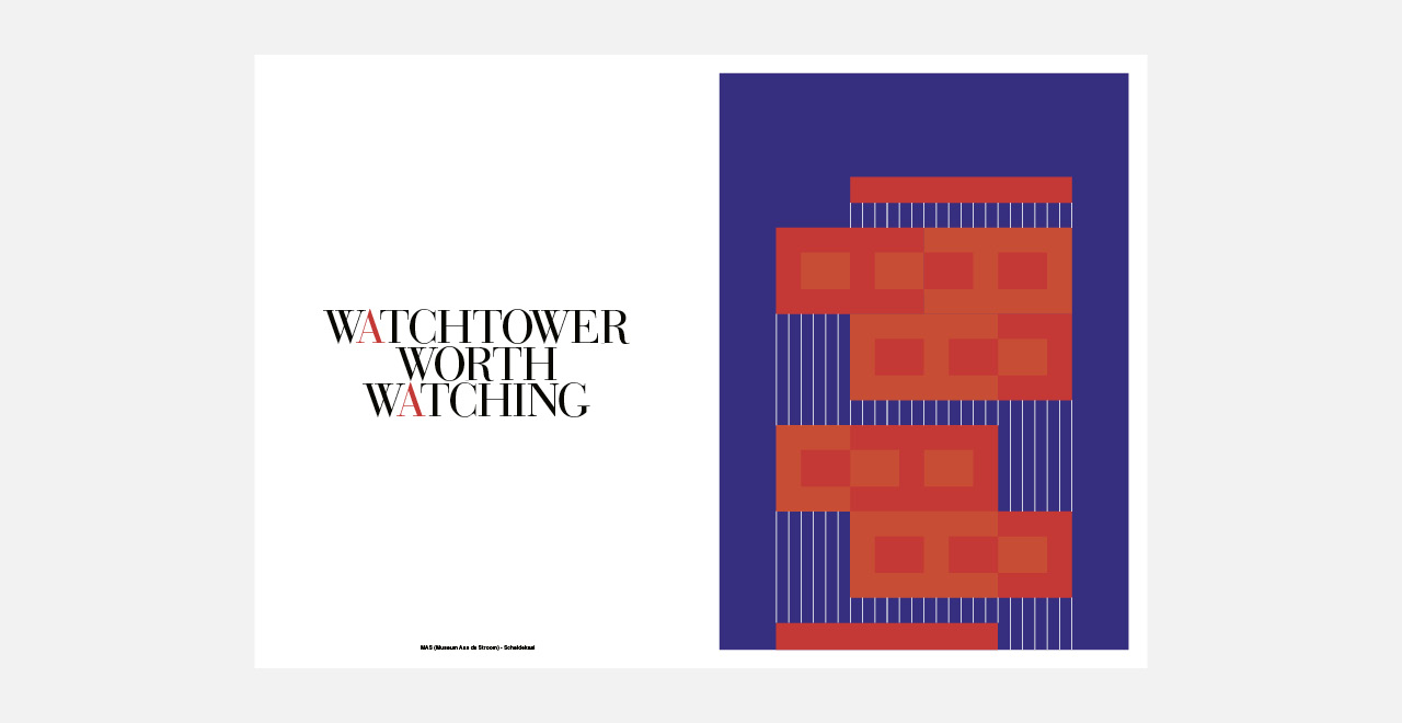 Antwerp shown in ten strong and colourful graphic images