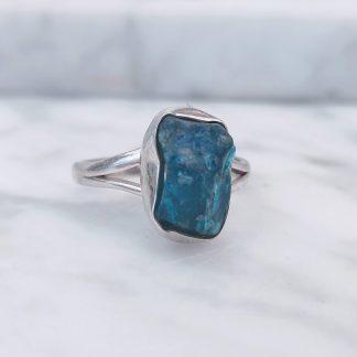Ring blauwe toermalijn