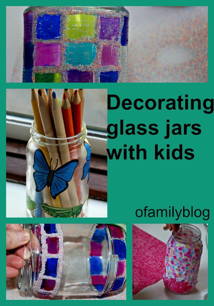 decorating glass jars ofamily