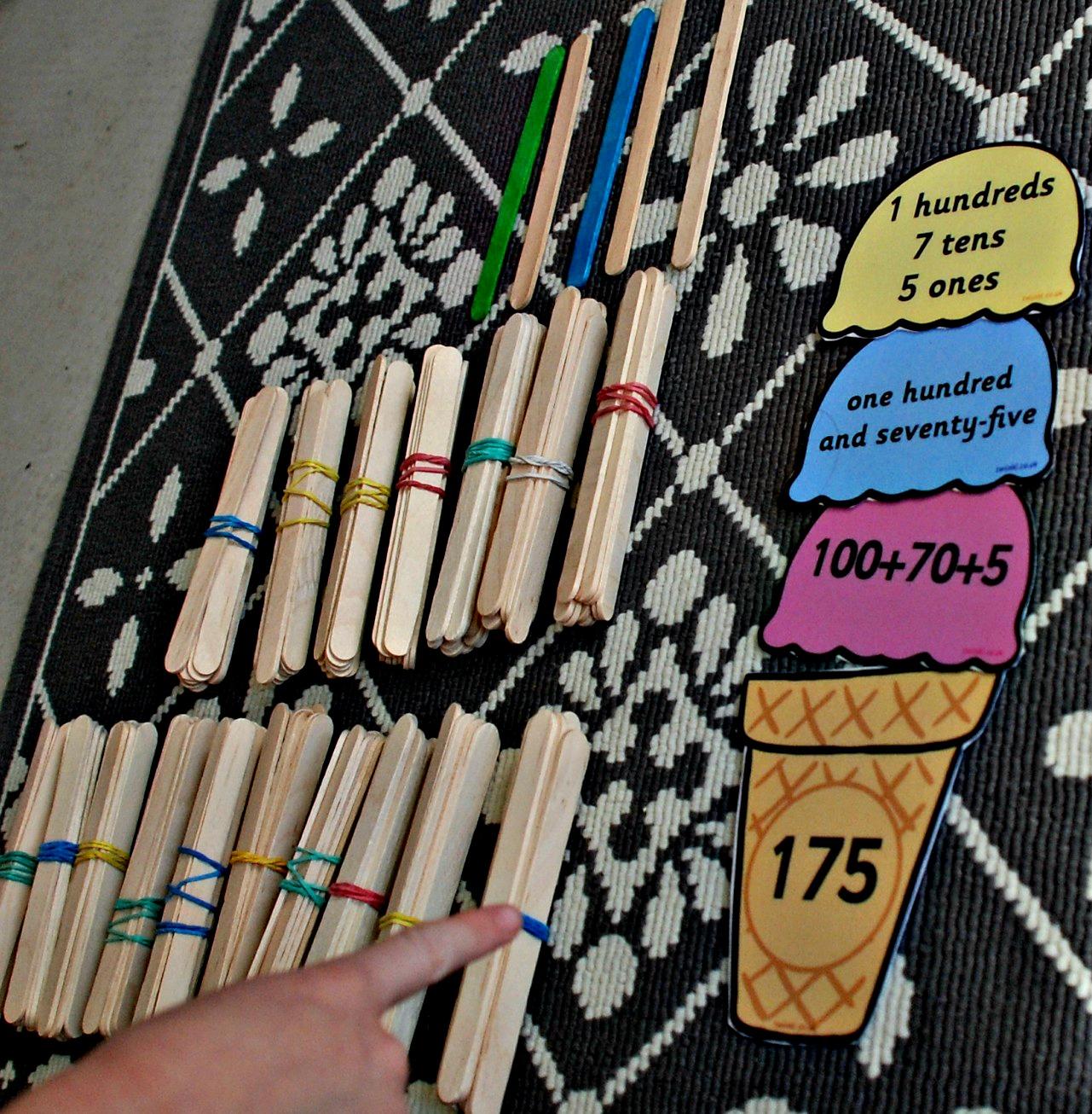 Craft Stick Home Made Base 10