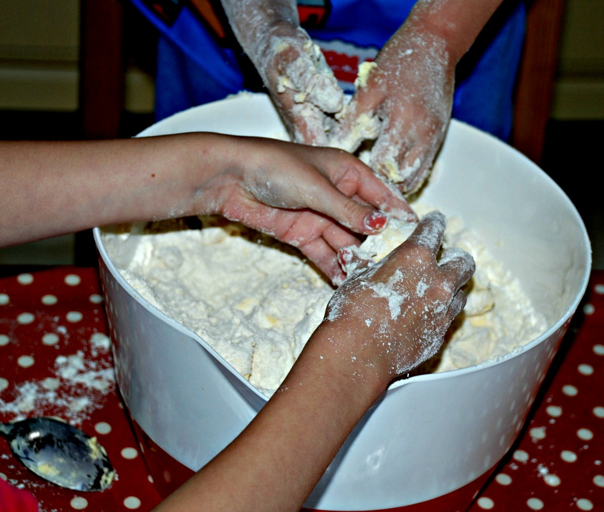 Baking Scones Is A Tactile Activity