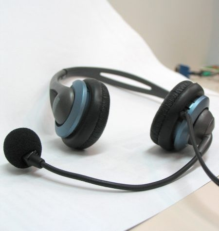 Headphones on desk by kahle at Morguefile.com