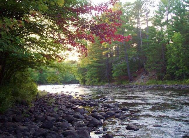 Rapids on the Amable du Fond River