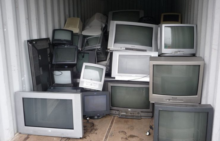 Scrap televisions by thesuccess at Morguefile.com