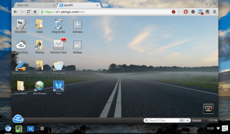 This is a screenshot of my Dell Mini 9 with the February 2013 Chrome OS build on it. It also shows a Zero PC virtualized desktop, which provides additional options if you are missing apps on your Chromium device.