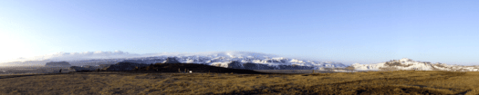 Looking east at Eyjfjallsjokull from Dyrholaey